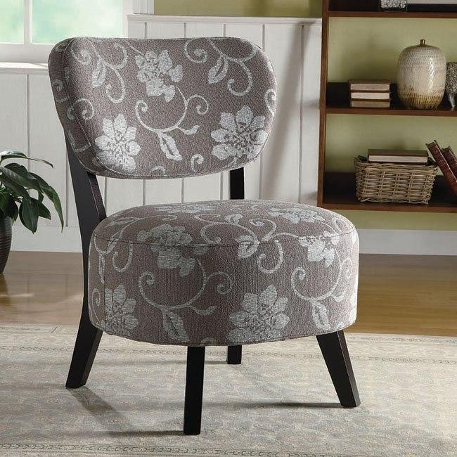 Grey Floral Accent Chair Coaster Furniture Furniturepick