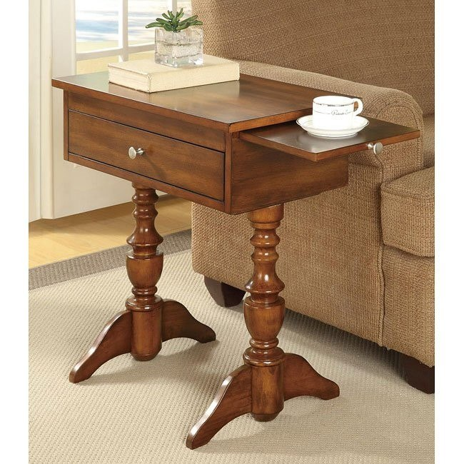 Warm Brown Chairside Table