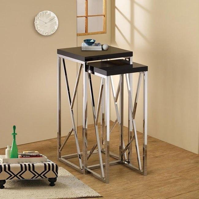 Modern Tall Nesting Tables (Black)