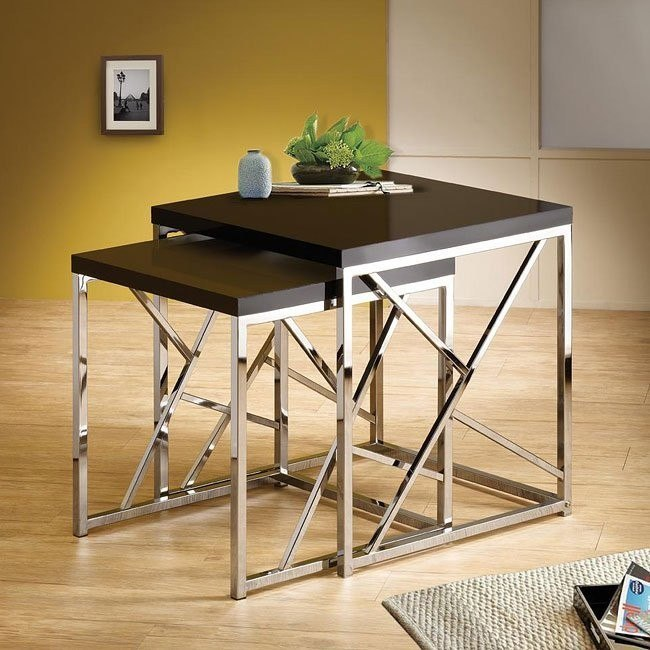 Modern Nesting Tables (Black)
