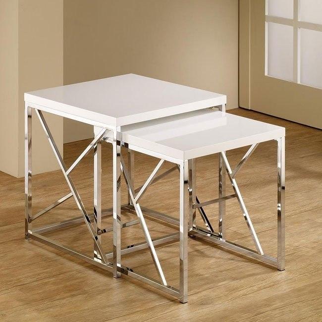 Modern Nesting Tables (White)