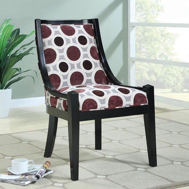 Circle Pattern Fabric Accent Chair