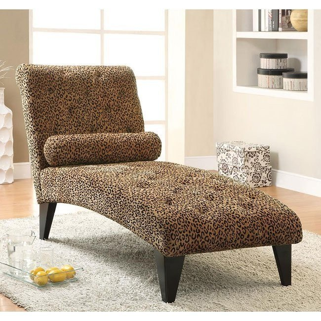 Velvet Chaise in Leopard Pattern