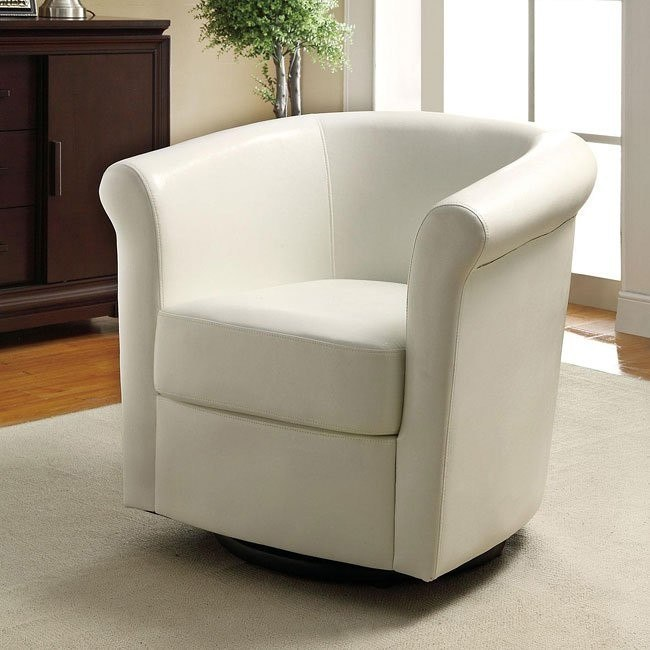Barrel Back Accent Chair in White