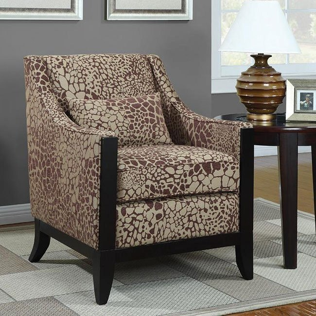 Accent Chair w/ Wood Trim
