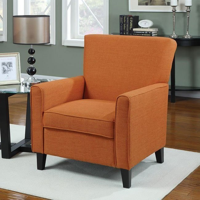 Accent Chair in Orange