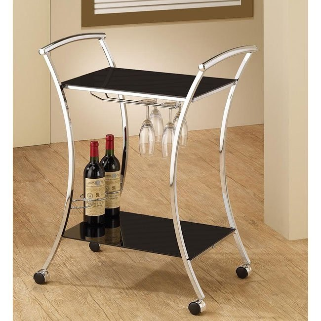 Black Metal Serving Cart