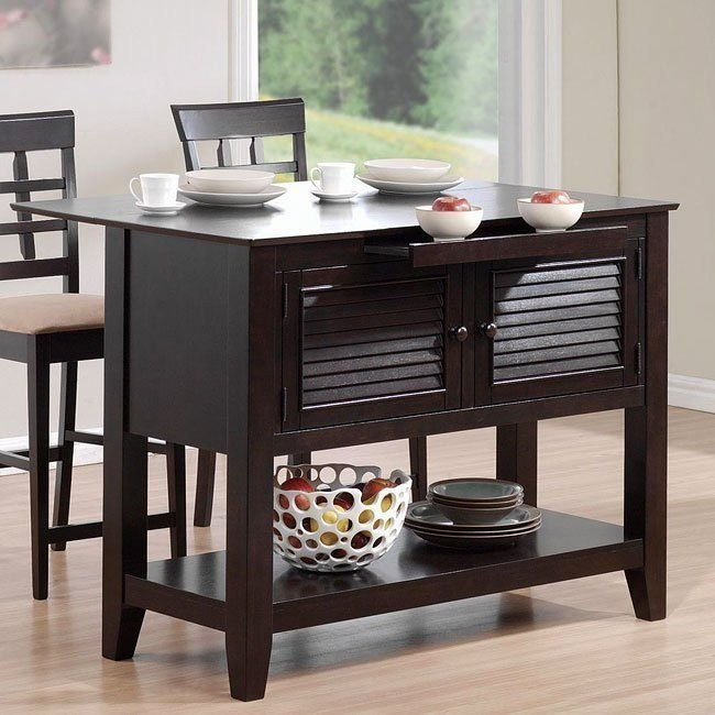 Mix and Match Kitchen Station with Drop Down Leaf