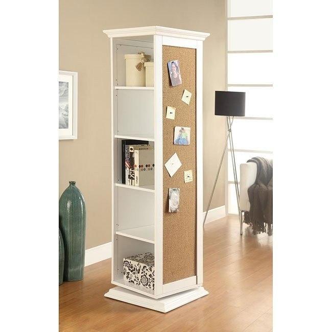 White Swivel Storage Cabinet