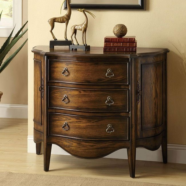 Distressed Finish Accent Cabinet