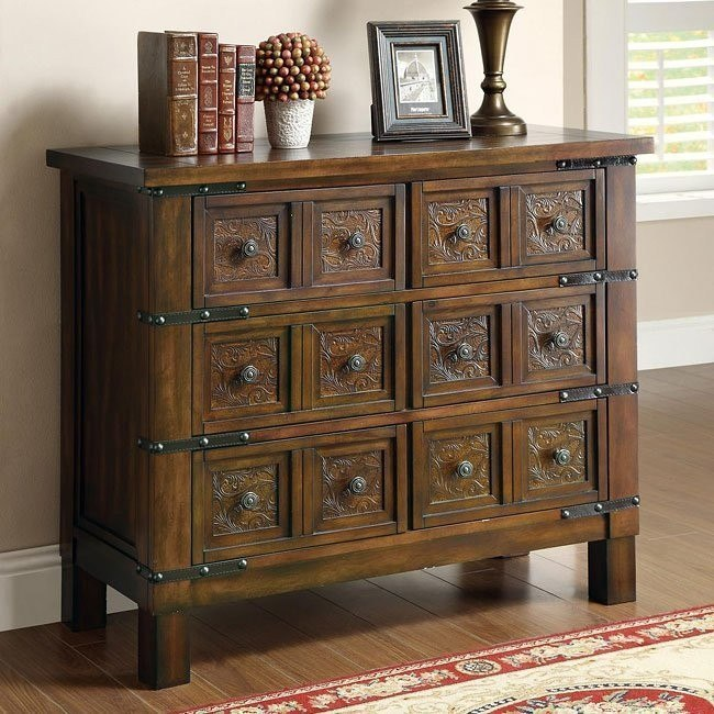 Warm Brown Accent Cabinet