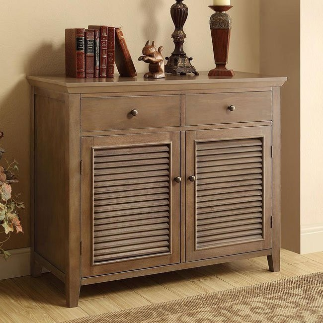 Brown Oak Accent Cabinet
