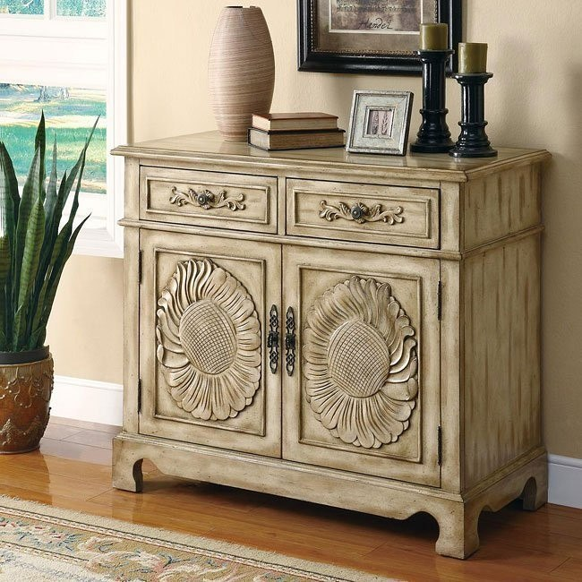 Antique Oak Accent Cabinet