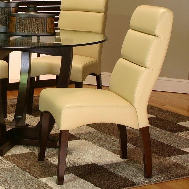 Adele Side Chair (Khaki) (Set of 2)