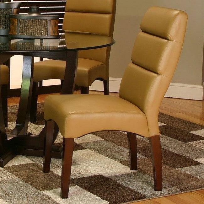 Adele Side Chair (Caramel) (Set of 2)