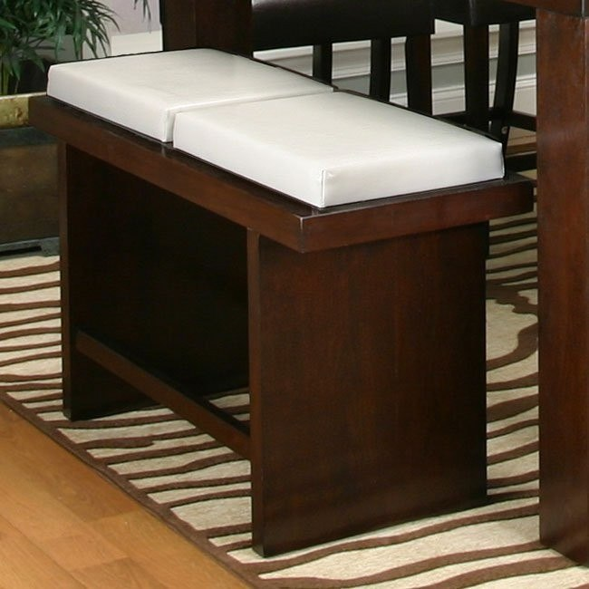 Kemper Counter Height Two Cushion Bench (Ivory)