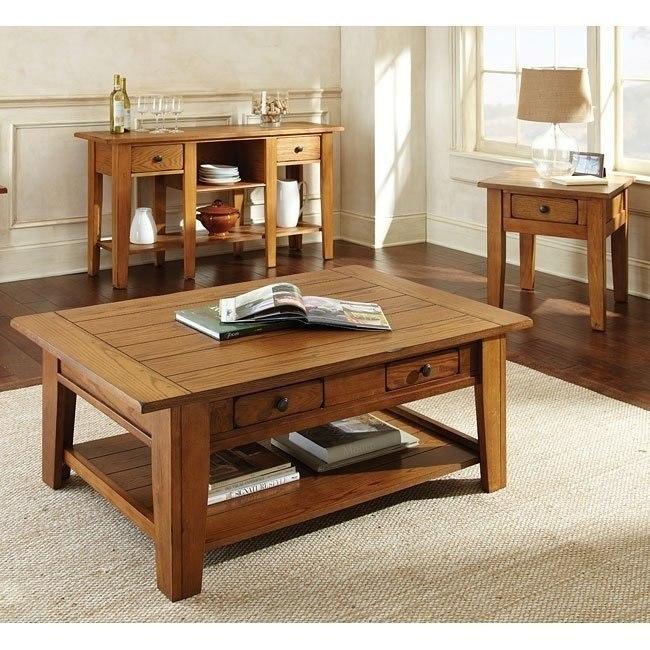 Liberty Occasional Table Set (Oak)