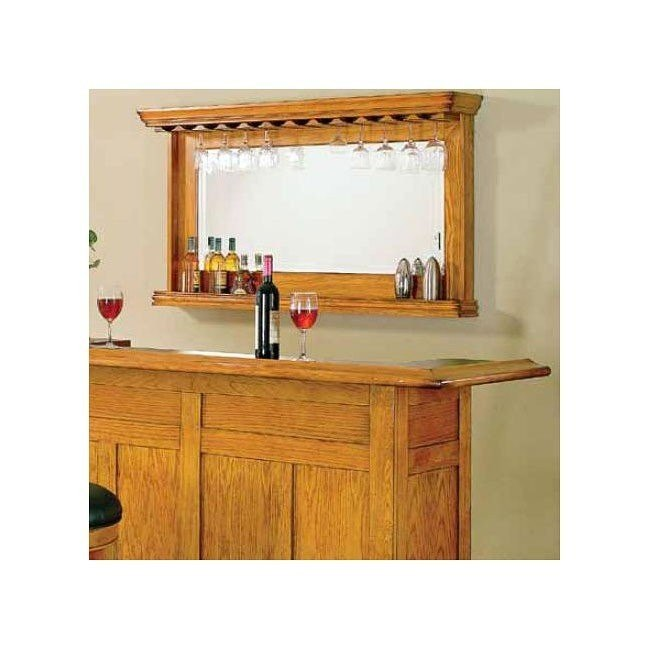 Burnished Oak Bar Mirror