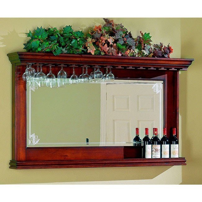 Burnished Cherry Bar Mirror