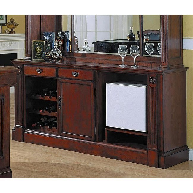 Monticello Back Bar in Burnished Cherry