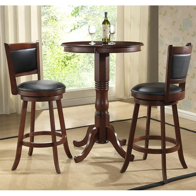 Burnished Cherry Pub Table Set