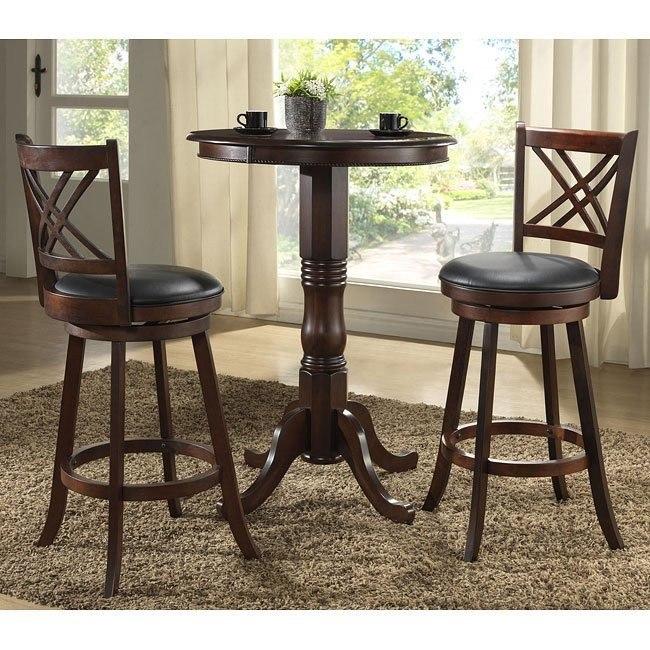Distressed Walnut Pub Table Set
