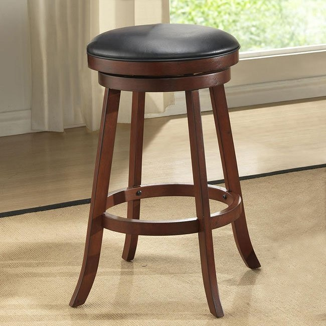 30 inch Burnished Cherry Backless Stools (Set of 2)