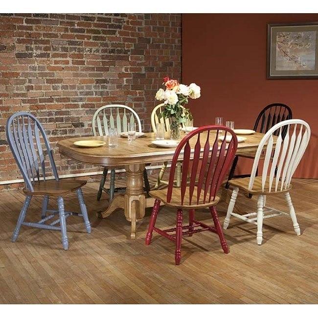 Missouri Rectangular Dining Room Set w/ Chair Color Choices