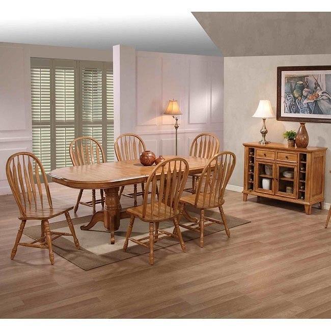 Missouri Rectangular Dining Room Set (Rustic Oak)