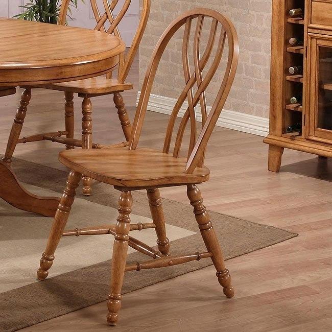 Missouri Double X Back Side Chair (Set of 2) (Rustic Oak)