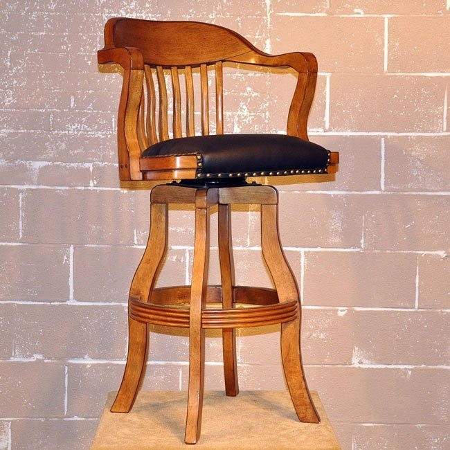 Champion Swivel Barstool (Distressed Walnut)