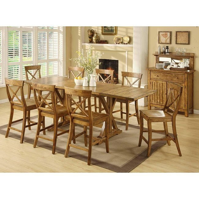 Santa Fe Counter Height Dining Room Set