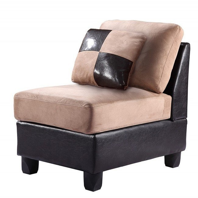 G295 Armless Chair (Chocolate)