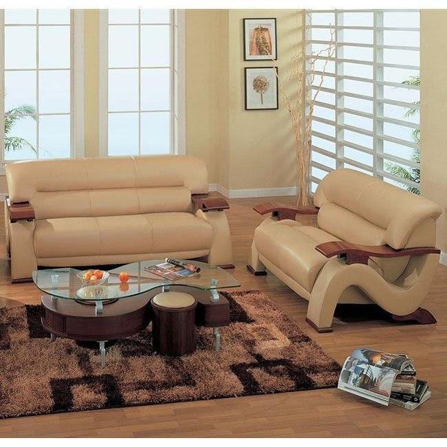 2033 Cappuccino Modern Living Room Set