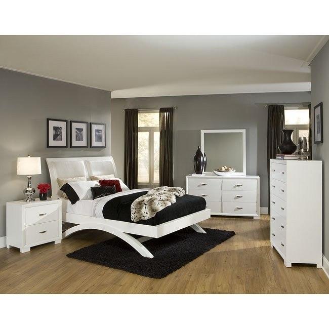 Astrid White Platform Bedroom Set
