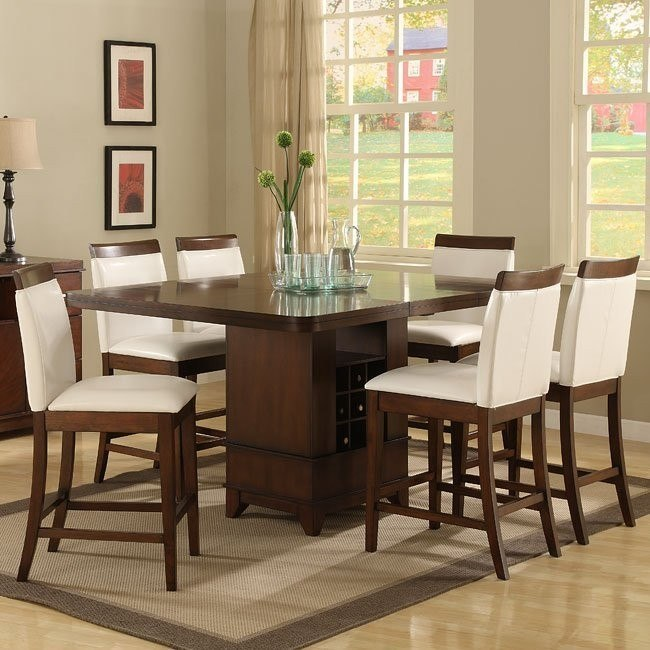 Elmhurst Counter Height Dining Room Set With Wood Rail