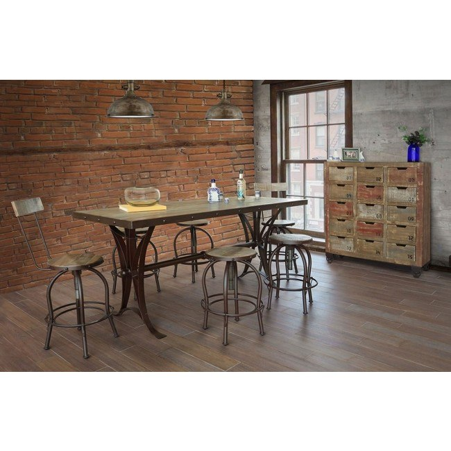 Antique Counter Height Dining Set W