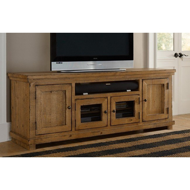 Willow 74 Inch Entertainment Console (Distressed Pine)