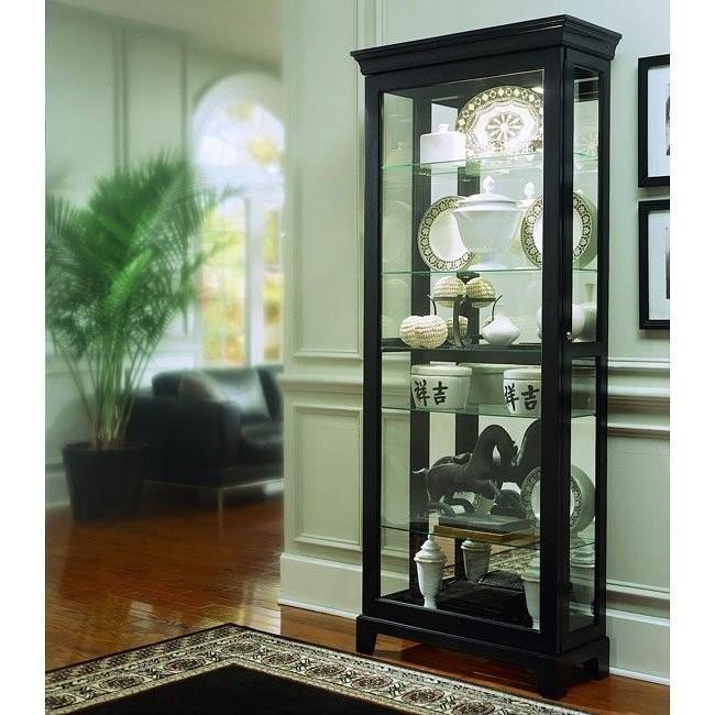 Oxford Black Two Way Sliding Door Curio