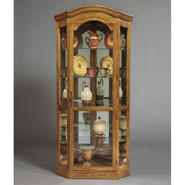 Pepper Oak Corner Curio