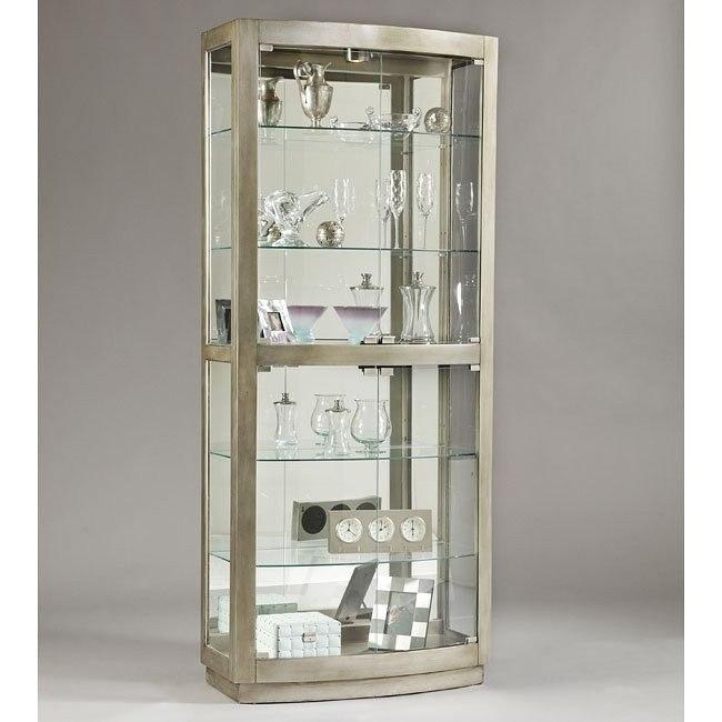 Platinum Glass Door Curio