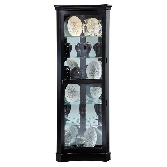 Oxford Black Concave Corner Curio
