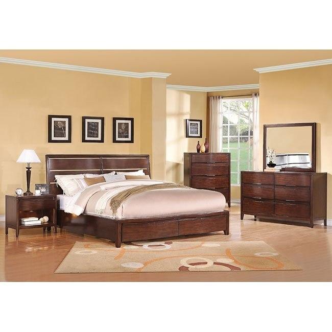 Tangerine 355 Bedroom Set Ginger Pulaski Furniture Furniturepick