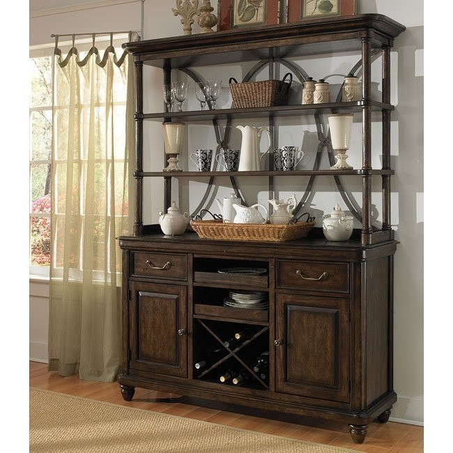 Saddle Ridge Sideboard w/ Hutch