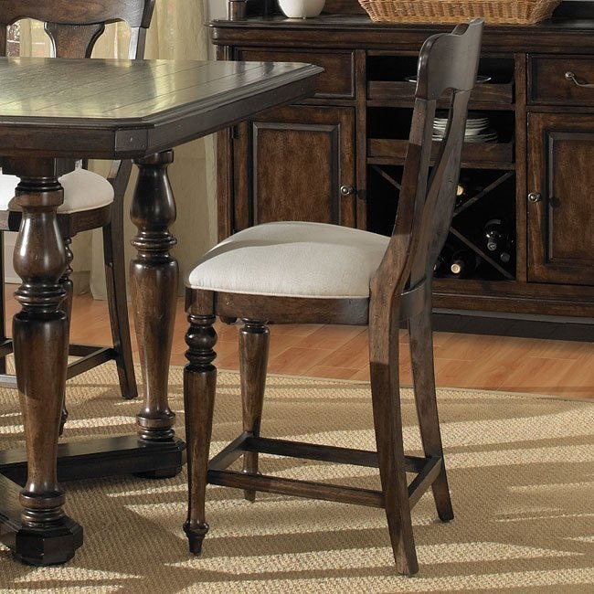 Saddle Ridge Counter Height Chair (Set of 2)