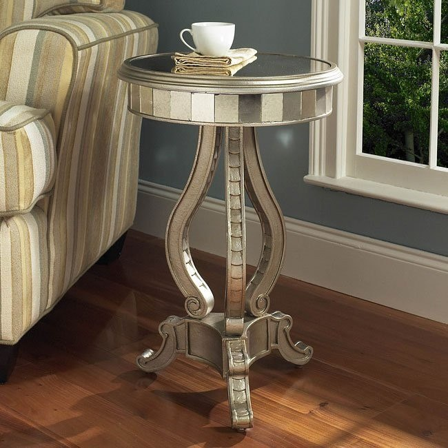 Fantasy Mirrored Pedestal Table