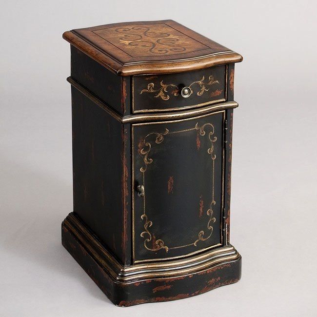 Versailles Black Chairside Table