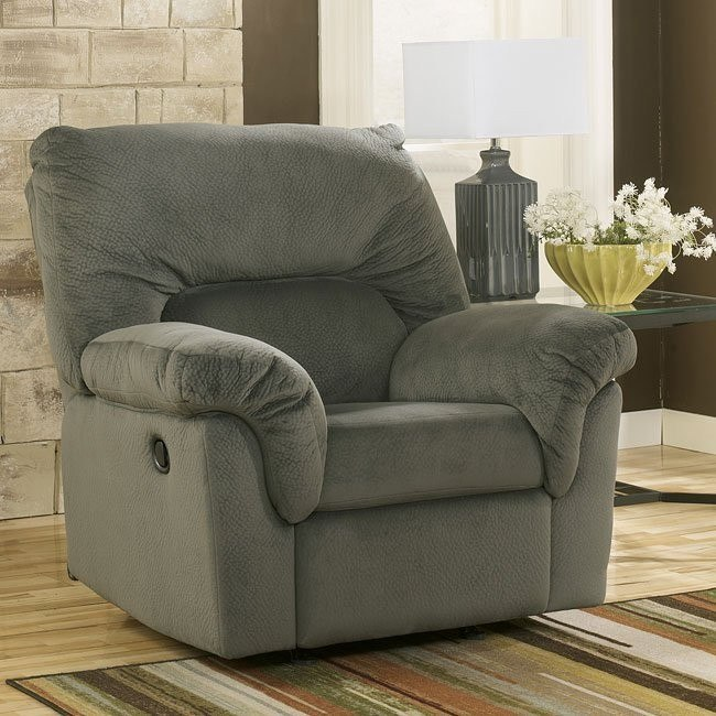 Coral Pike Pewter Rocker Recliner