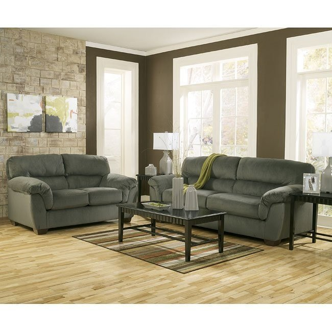 Coral Pike Pewter Living Room Set
