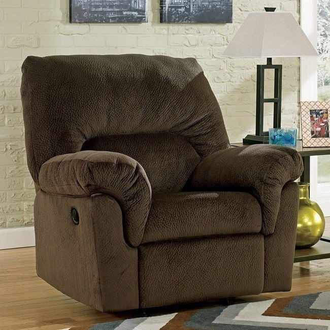 Coral Pike Chocolate Rocker Recliner